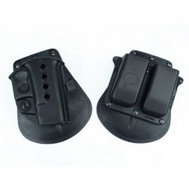RH Paddle For Glock G17 19 Series + Double Magazine Pouch