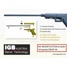 "Glock 16"" Barrel - IGB Austria patented 16"" Barrel For Glock models"